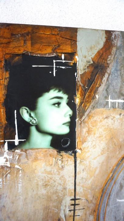 Audrey Hepburn Ölgemälde ohne Rahmen