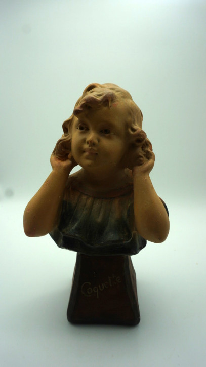 Skulptur Schönes junges Mädchen frankreich Jugendstil