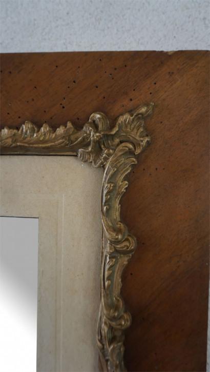 Antiker Spiegel mit Holzrahmen