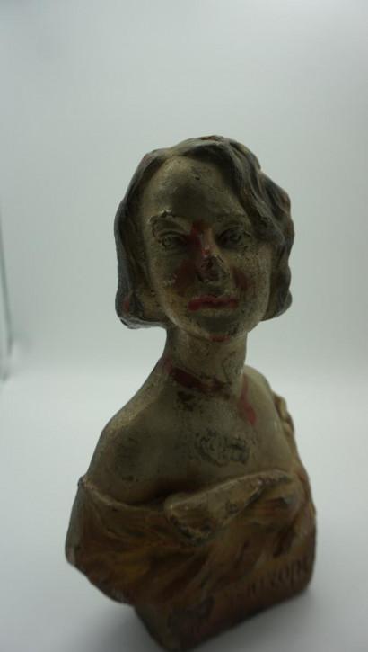 Antike Figur Mädchen France sign.