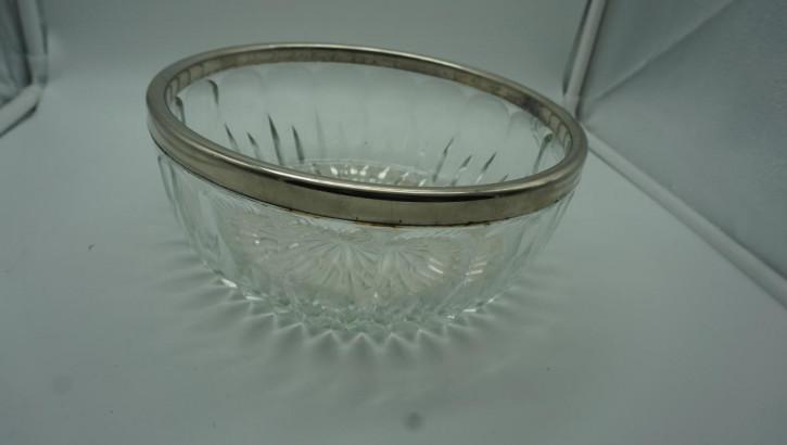 Glasschale Schale Kristall mit Plat, Rand
