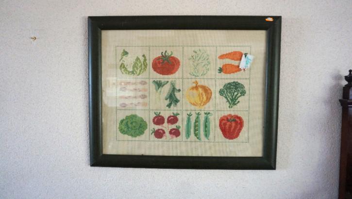 Rahmen mit Früchtemotiven Vintage