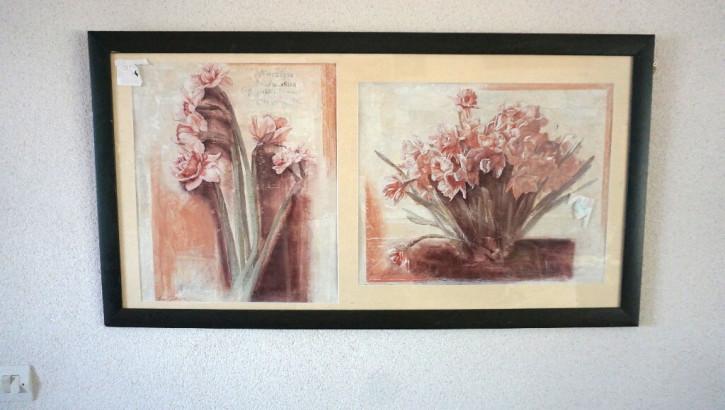 großer Bilderrahmen Blumenmotive