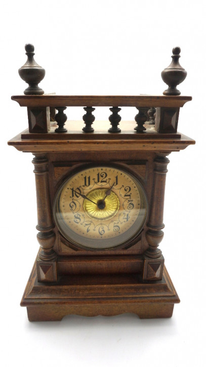 antike Kaminuhr mit original Uhrwerk inkl. Klingel