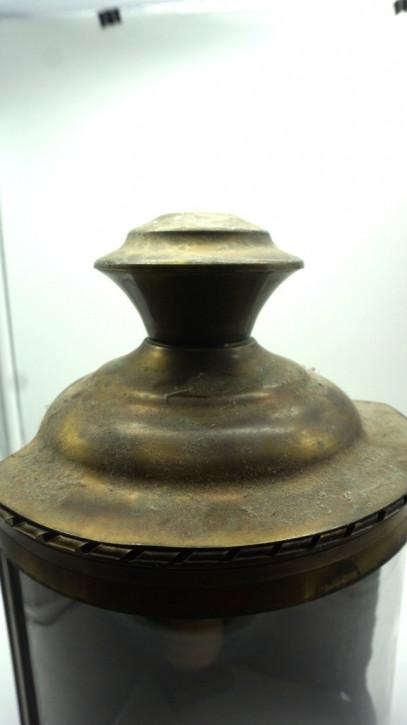 Ecklampe Messing RunderGlasschirm vintage Frankreich