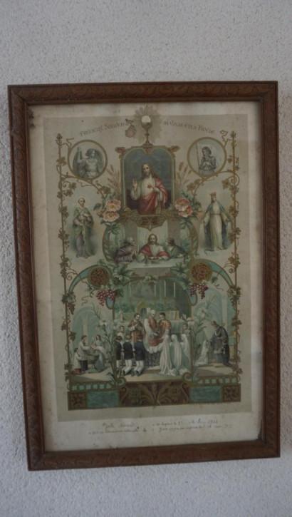 Antikes Christliches Gemälde Jesus Szenen