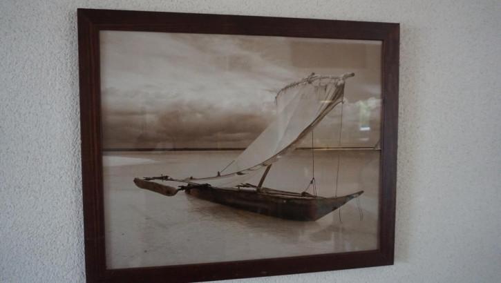 Antikes Gemälde Segelschiffchen