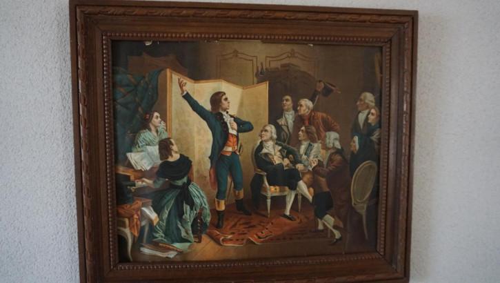 Gemälde Revolution Eichenrahmen