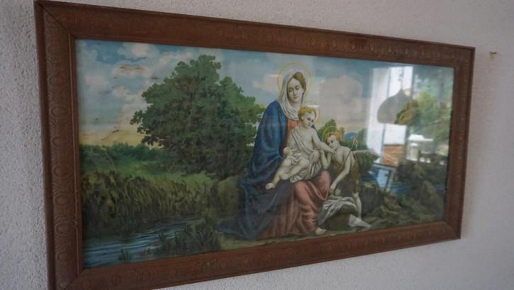 Antikes breites Gemälde Maria