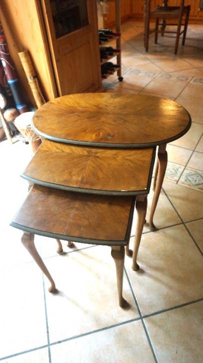 antikers nest of Table Mahagoni Tischsatz vintage