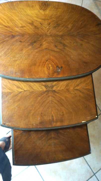 antikers nest of Table Mahagoni Tischsatz vintage