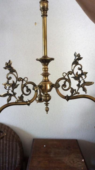 herrlicher Bronceleuchte drei Armig France Bronze Jugendstil