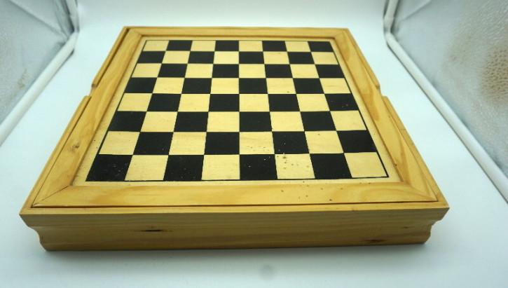 Damespiel spielesammlung vintage Holzbrett
