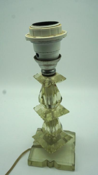 Lampenfuss Kristallglas Vintage
