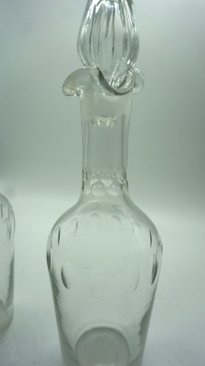Paar Karaffen Kristall Frankreich Vintage