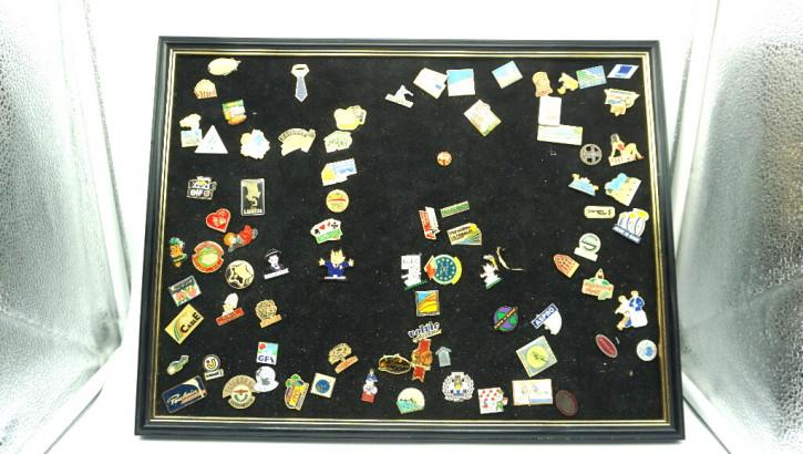 Stickersammlung frankreich auf Samttablett komplett
