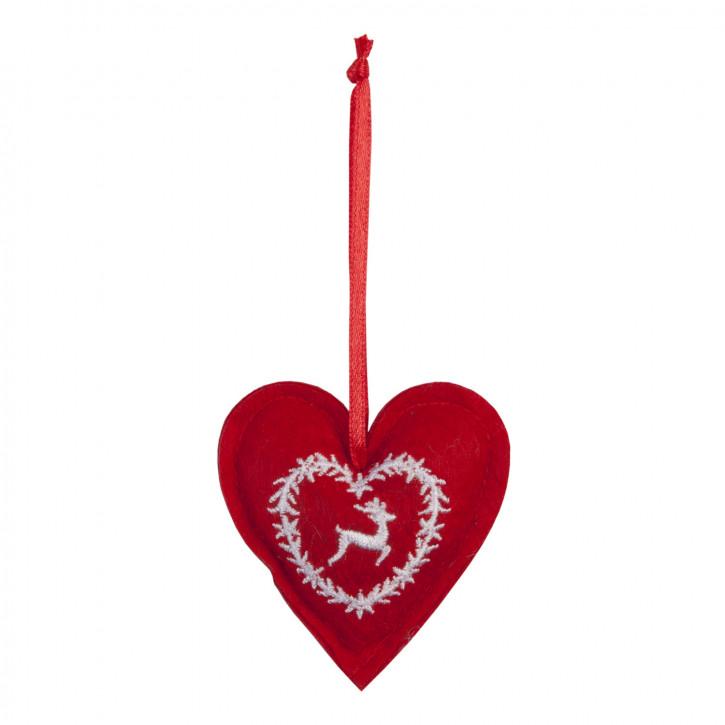 Hart hangend 6x6 cm