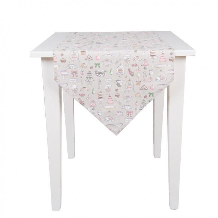 Tischlauter mit Tortenmuster 50*160cm
