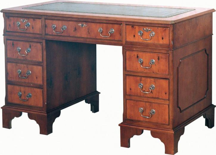 """Englischer Mahagoni Schreibtisch """"Pedestal Desk"""""""
