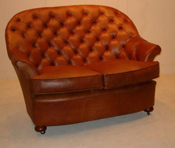 """Donington"" original Chesterfield Leder Sofa 3-Sitzer"