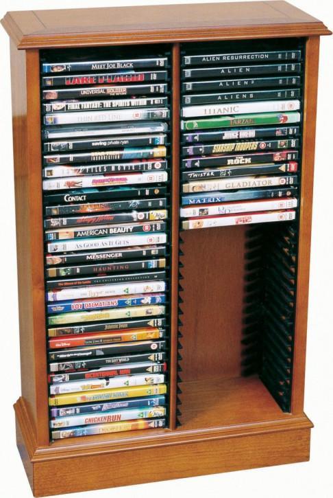 Doppel DVD Ständer in Mahagoni