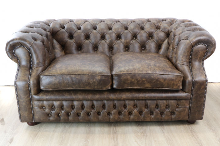 "Chesterfield Sofa ""Dover"" 2-Sitzer Ethna Brandy"