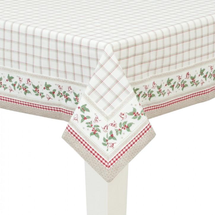 Schöne Tischdecke mit Blumenranke 100*100cm