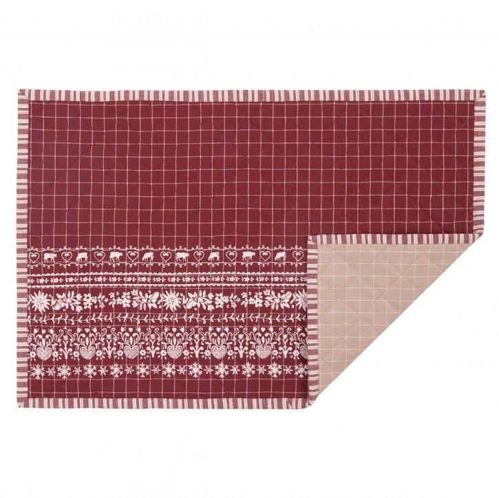 Schöne rote Platzdecke (6er Set)