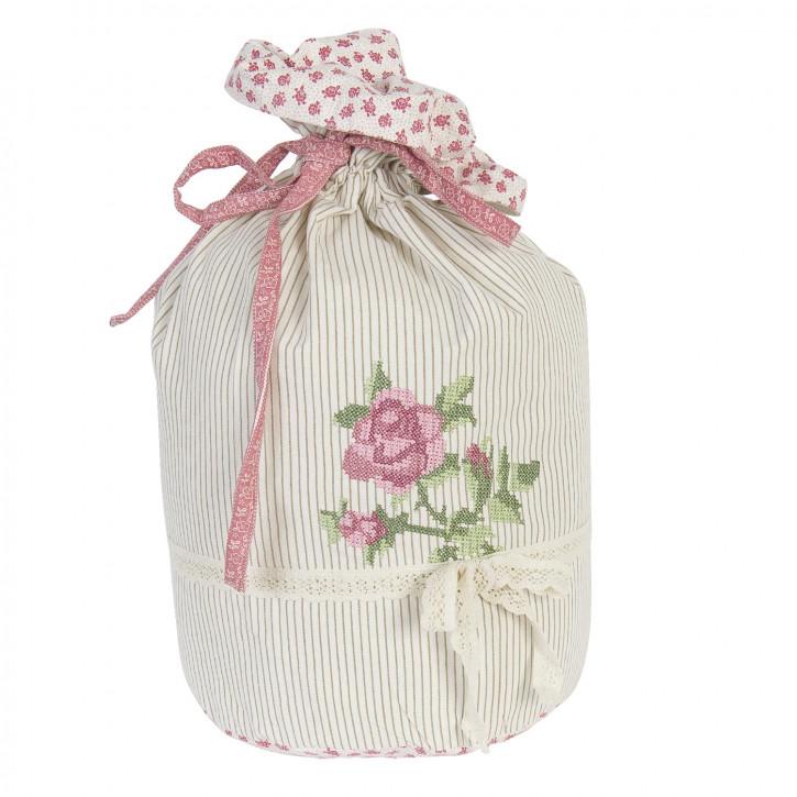 Dekorativer Wäschesack mit Rose