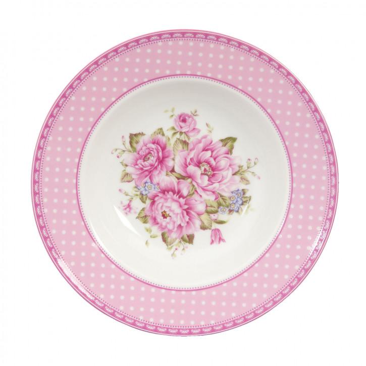 Teller große rosa Blumen ca. Ø 21 cm