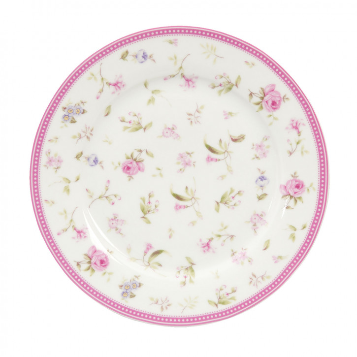 Kleiner Teller mit Blumenmuster Ø22cm