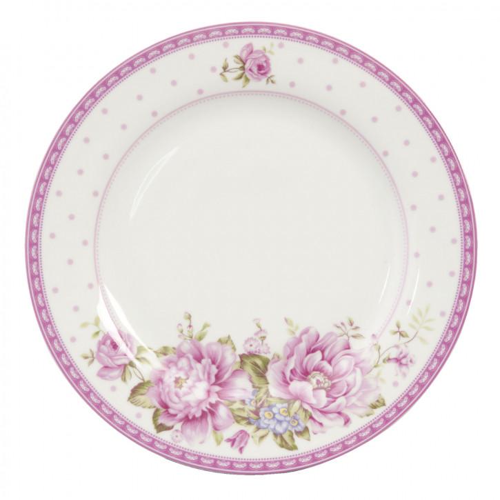 Großer Teller mit Blumenmuster Ø26.5cm