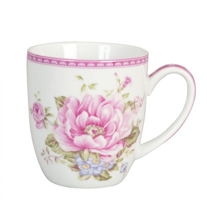 Becher große rosa Blume ca. 0.3 L