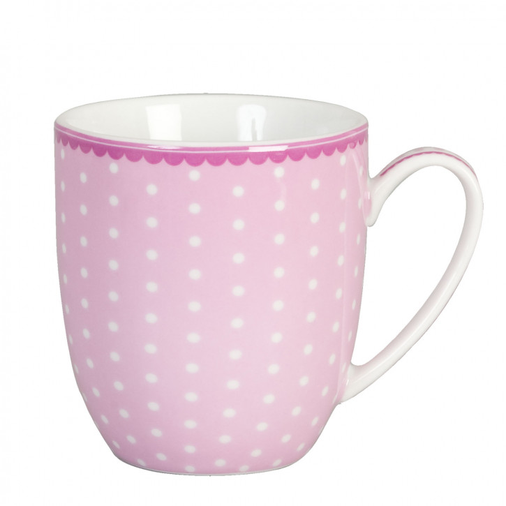 Kaffee Porzellan ~ Polka dot ~ pink