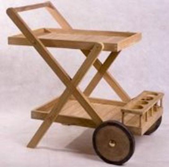 "Garten Teak Trolley ""Plantie"""