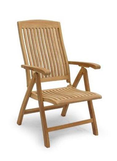 Gartenstuhl Bali Reclining Chair aus Teakholz