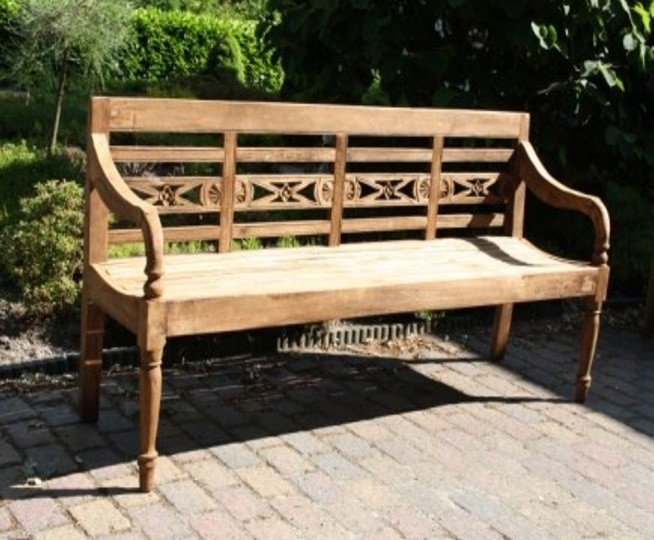 Gartenbank Station Bank Natur Bench 100cm