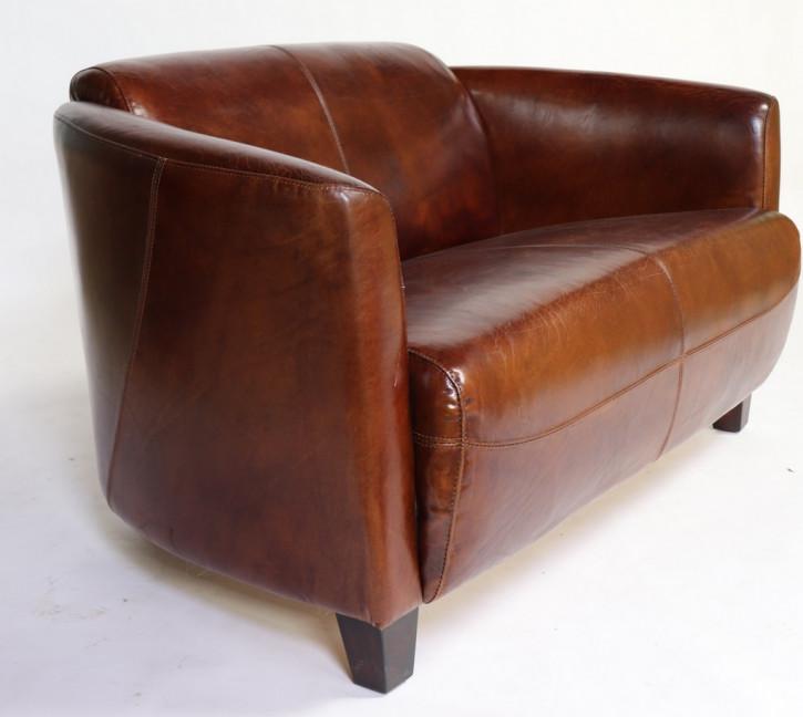Klassisches Ledersofa Echtleder 2-Sitzer Sofa Vintage original
