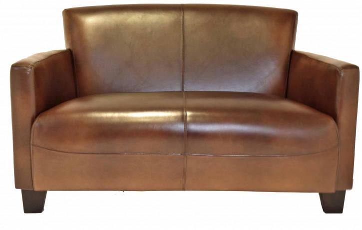Echtleder Sofa klassisch französisch Retro Vintage Ledersofa 2-Sitzer
