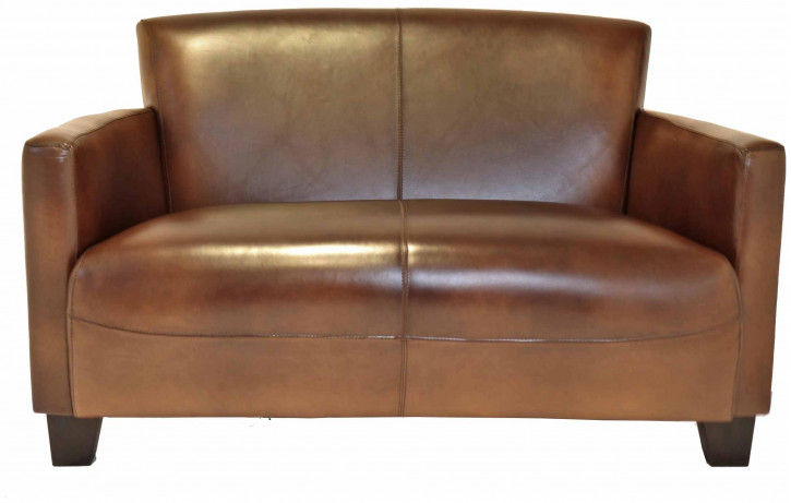 Echtleder Sofa klassisch französisch Retro Vintage Ledersofa