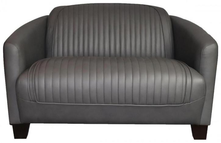 Zweisitzer Ledersofa Echtleder Sofa Vintage Retro klassisch