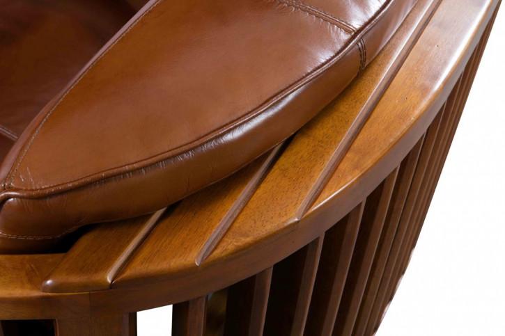 Französisches Retro Vintage Ledersofa Echtleder Sofa Massivholz Zweisitzer