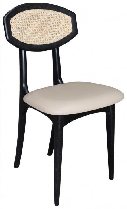 Leinenstoff Stuhl Leinenstuhl Retro Vintage Massivholz Eiche