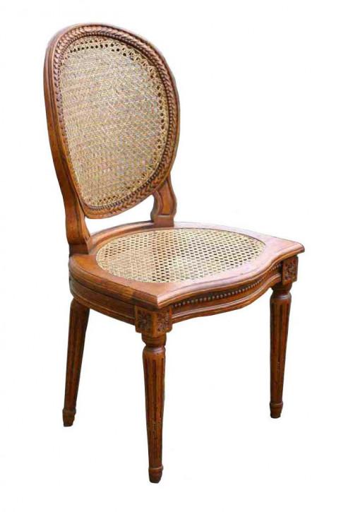 Französischer klassischer Holzstuhl Eichenstuhl Massivholz Retro Vintage