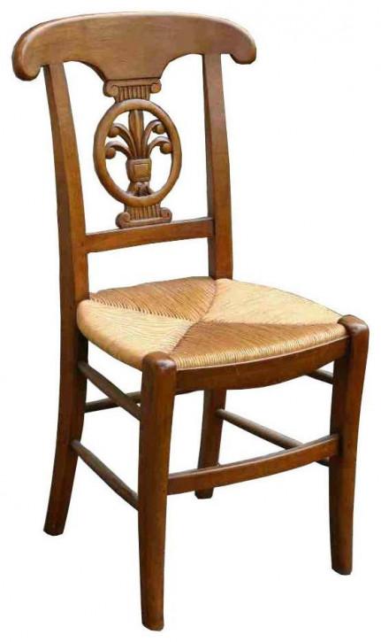 Klassischer französischer Vintage Retro Stuhl Holzstuhl Massivholz Eiche
