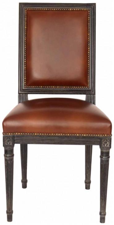 Retro Vintage Holzstuhl Küchenstuhl Esszimmerstuhl Leder Stuhl Eiche