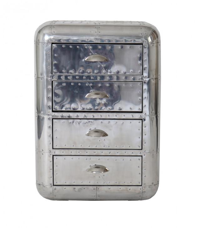 Französische Retro Vintage Aluminium Kommode Massivholz Sofort Lieferbar
