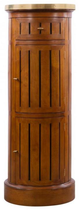 Klassischer französischer Retro Vintage Massivholz Beistelltisch Schrank