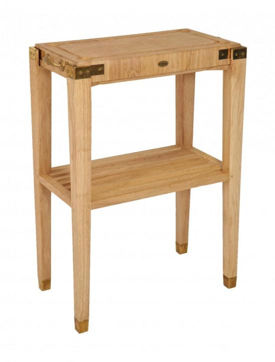 Klassischer Massivholz Beistelltisch Holztisch französisch Vintage Retro