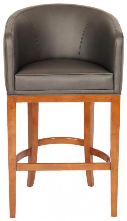 Retro Vintage Massivholz Sessel Echtleder Stuhl Lederstuhl Ledersessel